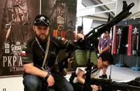 LCTエアソフトがイベント「國際迷彩嘉年華」の会場で新製品PKPペチェネグ機関銃&G3を展示