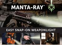 AR-15 用レールに簡単取り付け、レーザーマックス社の新製品ライト「マンタ・レイ (Manta-Ray) 」