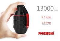 遊び心を刺激する「手榴弾」スタイルのポータブル充電器「Powerbomb Charger」