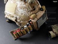 モダン戦闘ヘルメットの拡張性を高める TNVC のモホーク・カウンターウェイト・システム