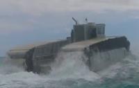 フローテンションパッドの無限軌道が付いた米海兵隊の次世代揚陸艇「UHAC」