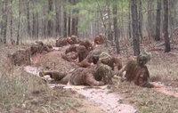米陸軍スナイパーコースによるギリースーツ・ウォッシュ映像