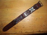 戦前 実物 日本軍 腕時計用ベルト 方位磁石付き