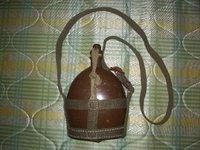 中田商店製 日本陸軍 昭五式水筒 (実物水筒&複製水筒紐)