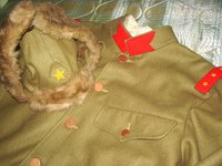 個人業者Sさま製 複製 日本陸軍 九六式防寒帽 鼻覆い付 (新型短毛仕様)