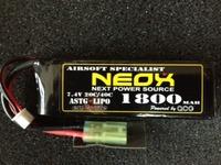 電動ガン専用リポバッテリー2S 1800mAhミニSタイプ