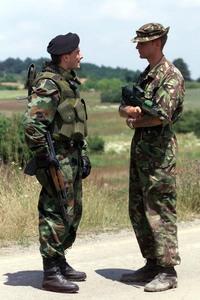 セルビア軍と海外