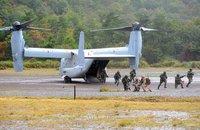 オスプレイ、航空自衛隊新田原(にゅうたばる)基地 航空祭で地上展示