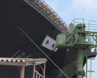 いずも型護衛艦二番艦、命名・進水式、命名「かが」