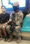 サバゲーしようと地下鉄で、出掛けたら♪