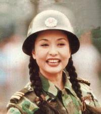 若き頃の中国人民解放軍総政治部歌舞団長