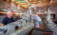 全長約7メートルのレゴで作った戦艦ミズーリ♪