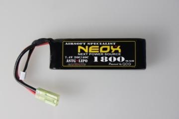 電動ガン バッテリー NEOX Lipo7.4v 40C 1800mAh