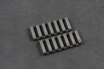 ERGO 7-slot ロープロファイルレールカバー BK