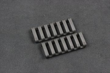 ERGO 7 slot ロープロファイルレールカバー BK