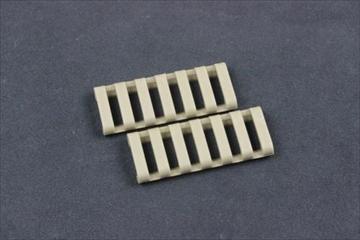 ERGO 7 slot ロープロファイルレールカバー FDE