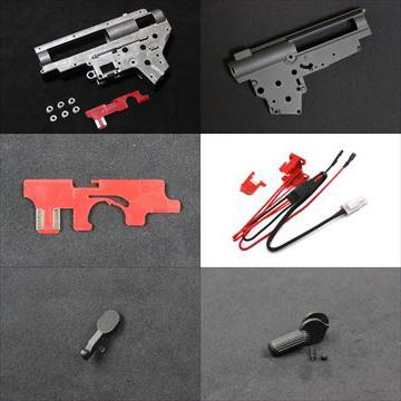 KING ARMS 電動ガン用パーツ、セレクタープレート各種、メカボックス、セレクターレバー等、再入荷!