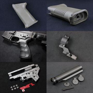 KING ARMS AK電動ガン用グリップ新入荷、電動ガン用ストックパイプ、G27グリップ、メカボックス他入荷!