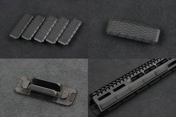 MADBUL Strike Industries MLOK カバー V2 Style BK 5個入り