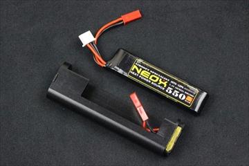 NEOX 電動サブマシンガン用 Lipoコネクター 550mAhバッテリーセット