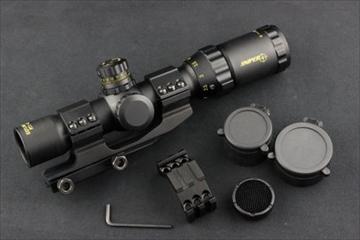 OPTICS タクティカルショートスコープ1-4倍 28口径