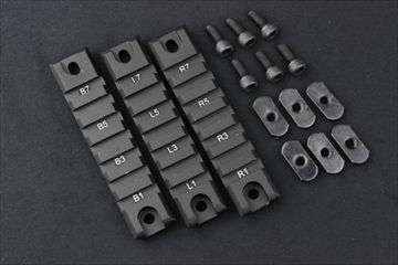 OPTICS G36用 レールパネル 3枚セット BK