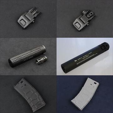 VFC製品 QRSフリップアップサイト、サプレッサー2種、QRS電動ガン用マガジン入荷!