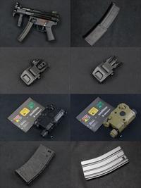 VFC MP5K ガスブローバック、QRSフリップアップサイト、MP7&M4 ガスブロ用スペアマガジン他、入荷!