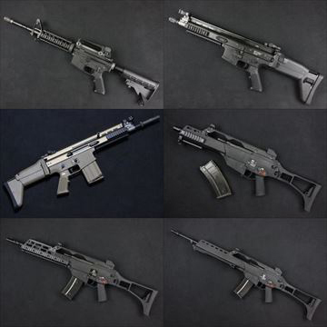 WE ガスブロ本体 M4A1 RAS、SCAR-H、SCAR-L、G36シリーズ、再入荷しました!