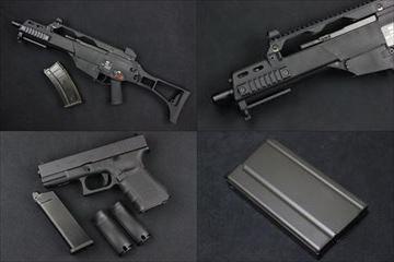 WE G36Cガスブロ本体、Glock19、M14スペアマガジン入荷しました!
