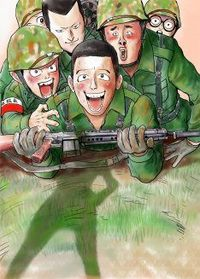 君が衛生兵で、歩兵が俺で(^_^;)