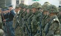 米海軍佐世保基地で日米合同警備訓練