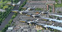 韓国空軍曲技飛行隊、ロンドン上空でお披露目飛行