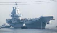 中国空母、海軍配備後初出航