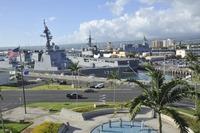 「ひゅうが」ほか海上自衛隊艦艇3隻、パールハーバーに寄港