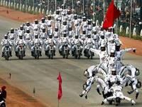インド軍事パレードでの1コマ(゜゜;)