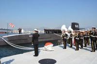 海自新型潜水艦、引き渡し式