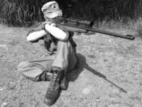 海兵隊とKTW ウィンチェスターM70+unertl レプリカスコープ
