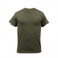 Solid Color Poly/Cotton ミリタリーTシャツ