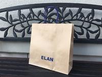 「ELAN」ネーム入り手提げ紙袋。