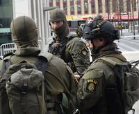 テロに対応するスウェーデン警察