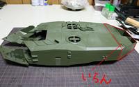 レオパルト2A7+を造ろう!! 砲塔部のディテール製作