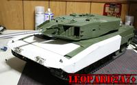レオパルト2A7+の砲塔周りを製作中