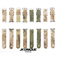JK UNIQUE CAMO Nylon NATO Style Apple Watch Strap 42mm