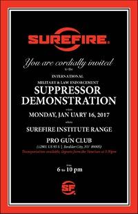 SUREFIRE主催サプレッサーデモへのご招待