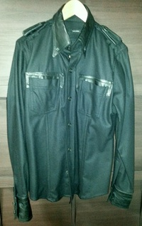 DSQUARED2 Leather/wool shirt