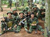 現用ベトナム人民軍軍装分隊撮影①
