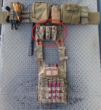 WarriorAssaultSystems トリプル40mmグレネード/SMALLフラッシュバンポーチ MC