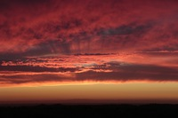マリポサに沈む夕陽とスーパームーン