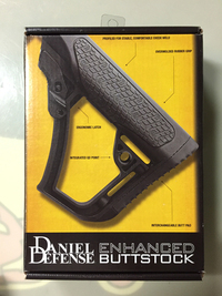 【カスタム】 取り付けました!「DANIEL DEFENSE BUTT ENHANCED STOCK」